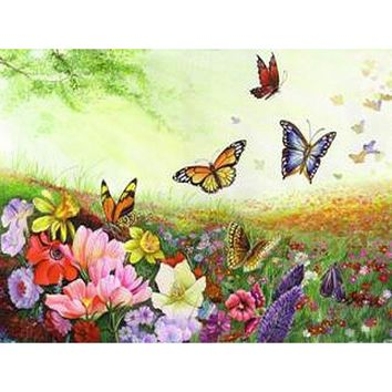 Frameless Butterfly Animals DIY Painting By Numbers Acrylic Hand Painted Oil Painting On Canvas Unique Gift For Home Artwork