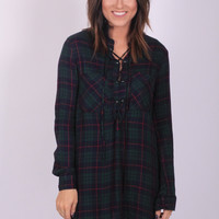 Good and Plaid Lace Up Flannel