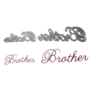 "Kids Cutting Die Stencil Craft Letter ""Brother"" Drawing Toys"