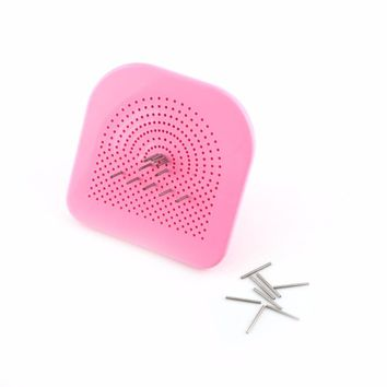 1Pc Quilling Tool Paper Flower DIY Disk with 20 Needles Grid Wrapped Tray Pink+Silver Hot Sale