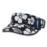 DECKY Snug Fitting Floral Polo Visor Cap_Black_One Size
