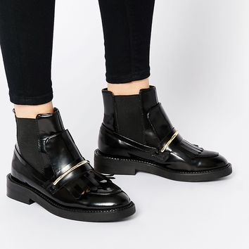 ASOS ANGELIC TOUCH Chelsea Leather Ankle Boots