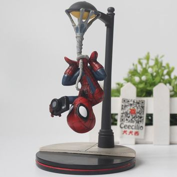 Comic The Amazing Spider-Man pvc Action Figure Spiderman Street light ver. Collection Toys