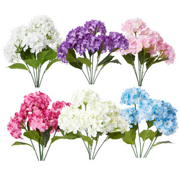Artificial Silk Hydrangea Bouquet Flowers, 22-Inch