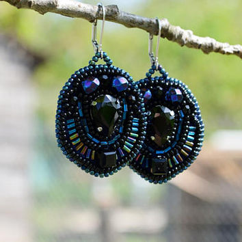 Black earrings Best Friend Gift for friend Gift Best Friend Birthday Gift for Her Friendship Gift for Sister Beaded Jewelry Girlfriend Gift