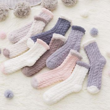 Free Shipping 2Pairs/Lot Winter Warm Socks High Quality Soft Towel Warm Fuzzy Socks Thick Floor Thermal Socks Winter Socks
