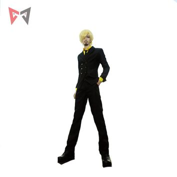 MMGG Anime new ONE PIECE Sanji cosplay costume anime suits custom made outfit