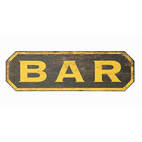 Vintage Turn Of The Century Decor BAR Wood Wall Plaque Sign 16-1/4-in