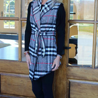 Road to Success Plaid Vest
