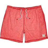 River Island MensRed short swim trunks