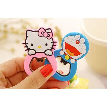 Kawaii Rubber Cover Opener , Hello Kitty 6*4CM Beer Bottle Opener Bottle Beer Opener Helper ; Stainless Steel Opener
