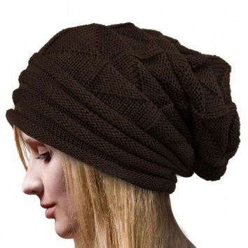 LMFUNT Amazing Lady Crochet Knitted Women Hat Winter Warm Beanie Warm Caps Free Shipping