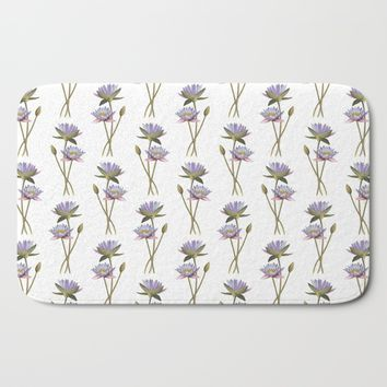 Lotus flowers Bath Mat by Savousepate
