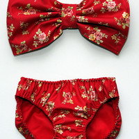 CLEARANCE: Floral Bow Bandeau Set