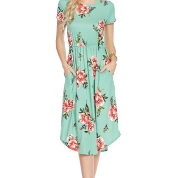 Drive Myself Crazy Floral Pocket Dress