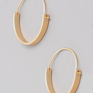 Small Latch Hoop Earring