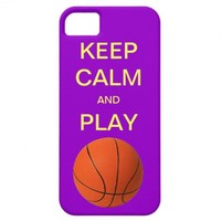 KEEP CALM AND PLAY BASKETBALL iPhone 5 Case from Zazzle.com