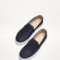 BLUE NUBUCK TRAINERS - Bags and Footwear 30% off - WOMEN - Spain