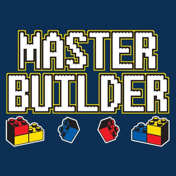 Master Builder Lego Funny Printed Lego T Shirt  Graphic Shirt Mens Shirt Ladies T Shirt Great Gift Shirt
