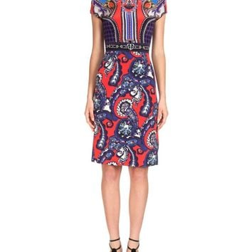 Posh Girl Paisley Print Sheath Dress