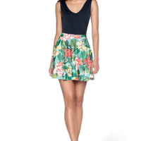 Frangipani Pocket Skater Skirt - LIMITED