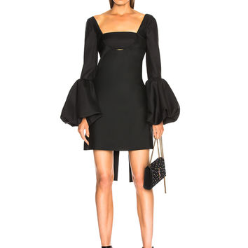 Valentino Off Shoulder Cutout Mini Dress in Black | FWRD