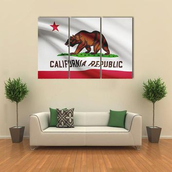 State Of California Flag Multi Panel Canvas Wall Art