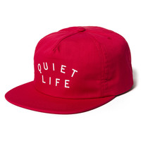 Quiet Life: Standard Relaxed Snapback - Red
