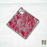Ready to ship!, red glass pendent, handmade, handpainted, glass painting, necklace, elegant, fashion, free, shipping