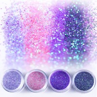 1Box Purple Pink Nail Glitter Powder 10ml Sheets Tips Manicure Nail Art Decoration