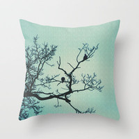 Pigeon Silhouette Light  Throw Pillow by J Coe Photography | Society6
