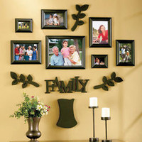 Black 12 Pc Family Tree Photo Picture Frame Set Home Wall Display Decor New