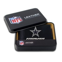 NFL Dallas Cowboys Embroidered Genuine Cowhide Leather Billfold Wallet