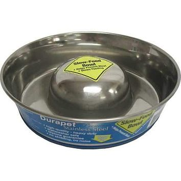 Slow Feed Stainless Steel Bowl