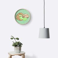 'Basket of Granny Smith Apples & Pie' Clock by Abigail Davidson
