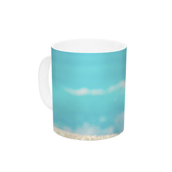"Monika Strigel ""Summer at the Beach"" Blue Coastal Ceramic Coffee Mug"