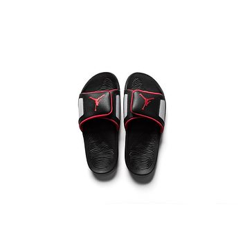 AA QIYIF Jordan Hydro III Retro - Black/University Red/Cement Grey