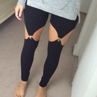 Garter Leggings suspender leggings