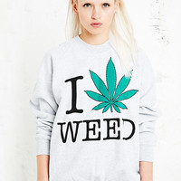 Smithson I Love Weed Sweatshirt - Urban Outfitters