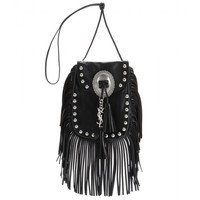 saint laurent - fringed leather shoulder bag