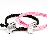 Elephant Bracelets Black and Pink