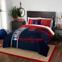 Boston Red Sox MLB Full Comforter Set (Soft & Cozy) (76 x 86)
