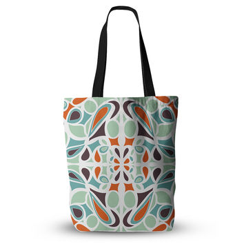 """Miranda Mol """"Orange Purple Stained Glass"""" Tote Bag, 13"""" x 13"""" - Outlet Item"""