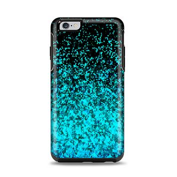 The Black and Turquoise Unfocused Sparkle Print Apple iPhone 6 Plus Otterbox Symmetry Case Skin Set
