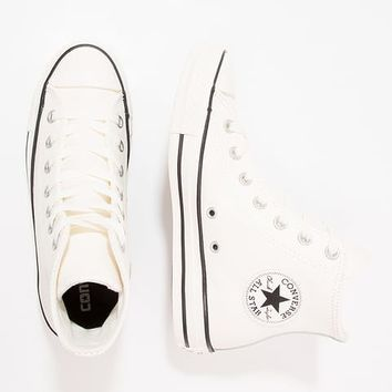 CHUCK TAYLOR ALL STAR TUMBLED LEATHER - HI - High-top trainers - egret/black @ Zalando.co.uk 🛒