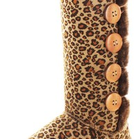 Moda Essentials Tall Button Women Faux Sheepskin Boot