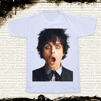 Size M -- GREEN DAY Shirts Billie Joe Armstrong Shirts Alternative Rock Shirts Unisex T Shirts Women T Shirts White T Shirts Punk T Shirts