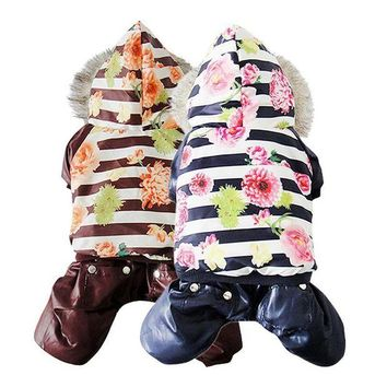 DCCKH6B Clothes For Dogs Snowman Jacket Dog Coat Winter Pet Perro Clothes Warm Goods For cachorro Costume Puppy Jumpsuit Hoody M L