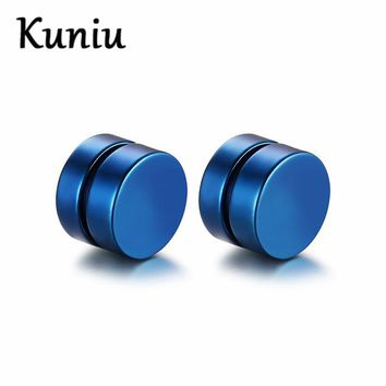 Fashion Magnetic Round Earrings For Women and Mens Stainless Steel Magnet Earring Dropshipping