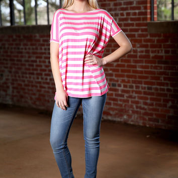 Piko Striped oversized top